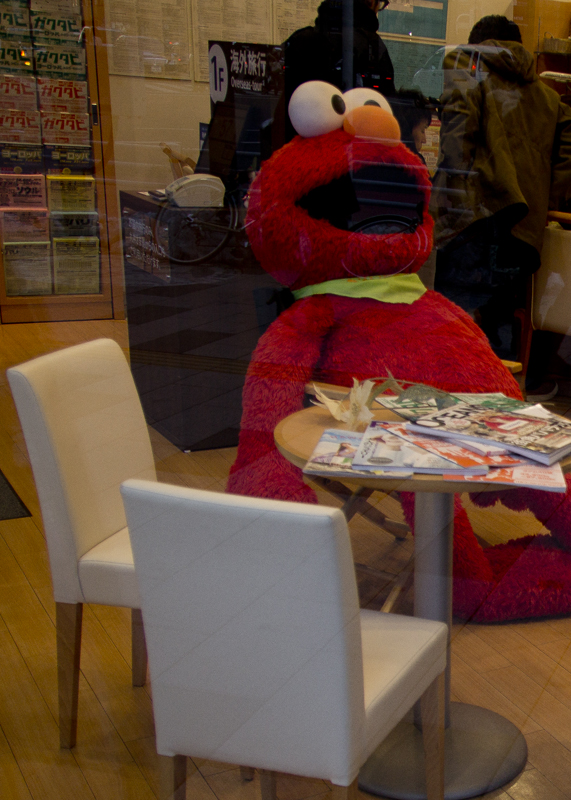 I spotted Elmo in this shop, he was just plopped down for a bit to take a breather after a big day exploring Shinjuku. I know that feel.