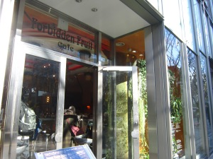 you can't take pictures inside Bed Rock, but this is Forbidden Fruits Cafe from the outside!!!