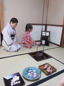 Kokoro practicing, and the delicious Japanese sweets!