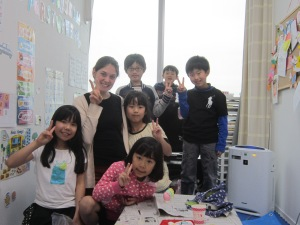 One of the classes that I helped teach English this semester.