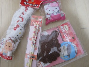 Some of the various things you can find at a 100 yen shop!