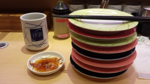 The plates are color coded by price!