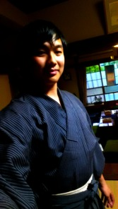 My Hakama looks very cool from the front!!