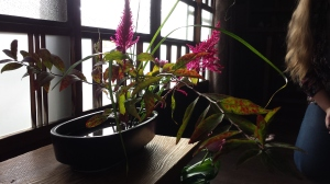 One of the Ikebana our host made to commemorate our chance to meet each other!