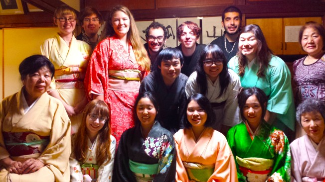 "Everyone definitely was excited to ""dress up"" in traditional Japanese clothes."