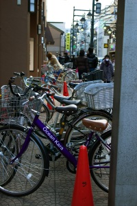 Bike parking is a must at any convenience store. You will always find bikes and sometimes scooters around convenience stores.