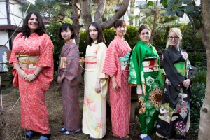Here are some of the girls who decided to get dressed up in kimonos. They had so many colors and varieties to choose from, so every looked so pretty and unique!