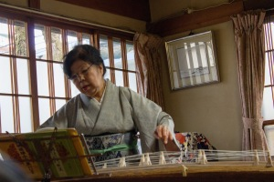 Our host was a talented musician. She played the Koto (the Japanese horizontal harp) and sang. We even joined along!