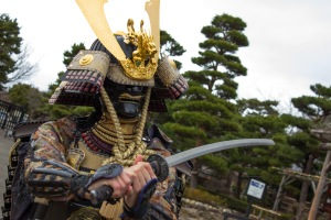 We were greeted right outside of the gates by a staff member dressed as a samurai. It looked quite heavy, but none the less amazing!