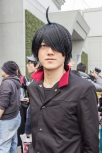 Many cosplayers at Anime Japan even took photos themselves. This cosplayer, dressed as the character Araragi from the Monogatari series was also taking photos of other cosplayers, while cosplaying himself.