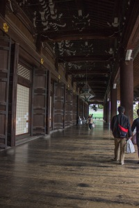 Sadly, photographs are not allowed inside of Higashi Honganji, but the outside of the building is gorgeous and tranquil.