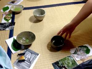 A tea ceremony was performed by the hosts who presented matcha (powdered green tea) and various Japanese snacks.