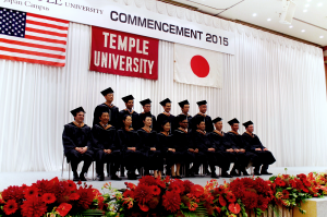 TUJ MBA Graduate Class of 2015 photo taken before the ceremony began.