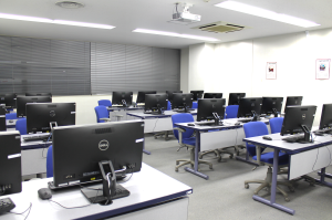 TUJ Computer labs located on the 3rd floor of Azabu Hall. Labs offer both PCs and Macs.