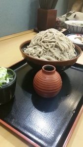 A frankly ridiculous amount of soba, for less than 400¥!