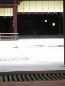 The inner shrine at the Meiji Shrine. We were not allowed to set foot there, but it was quite amazing nonetheless.