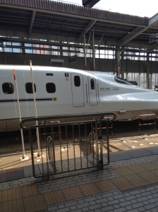The Shinkansen (bullet train). It was quite impressive!