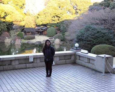 Najah Yasin (me) in front of the Zen Garden and Tea Houses. Photo credit: Gresham Smith